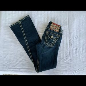True Religion Joey Dark Wash Jeans with Stitching